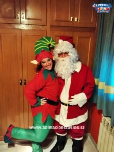 Papá Noel a domicilio con su visita en Donostia