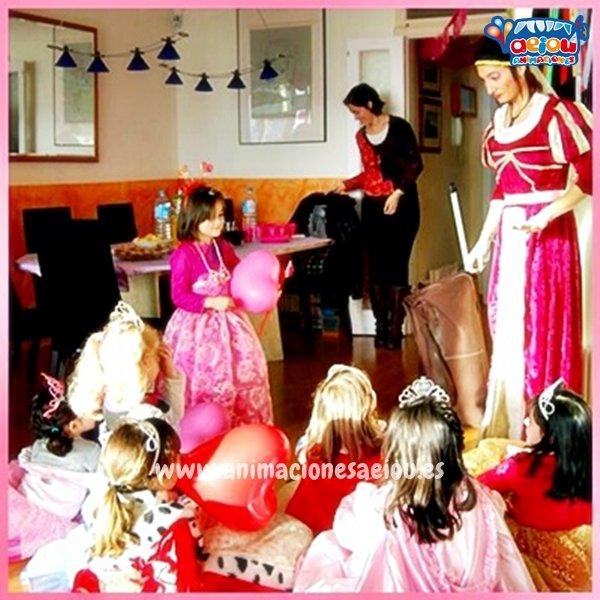 Animadores para fiestas de cumpleaños infantiles de princesas en Donostia